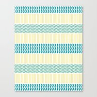 knit Canvas Prints featuring Knit Pattern by K&C Design