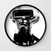 spaceman Wall Clocks featuring Spaceman by Goga