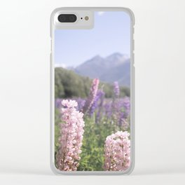 Fields of Flowers - Southland, New Zealand Clear iPhone Case