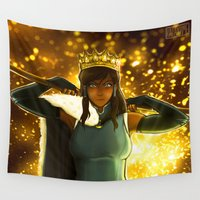 korra Wall Tapestries featuring YOU CAN BE THE KING by KaiAyame