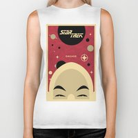 picard Biker Tanks featuring Star Trek TNG Jean Luc Picard Enterprise by jake