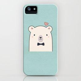 Kawaii Cute Polar Bear iPhone Case