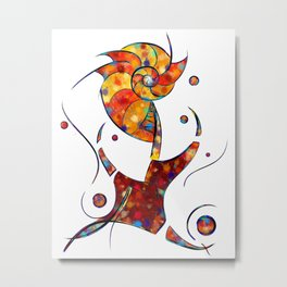Espanessua - imaginery spiral flower Metal Print