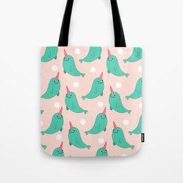 Narwhal Loves You Tote Bag