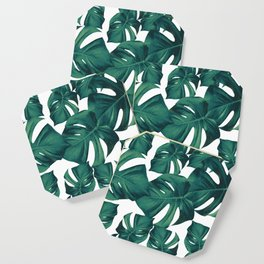 Monstera Leaves Pattern #3 #tropical #decor #art #society6 Coaster