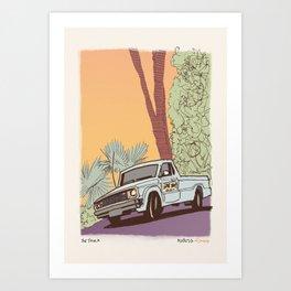 Beach Cop Detectives 00 - The Truck Art Print