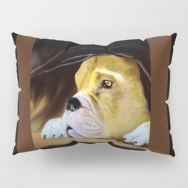 Boxer Thinking Things Over Pillow Sham