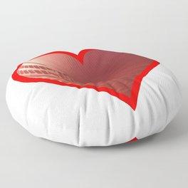 Cricket Ball Heart Floor Pillow
