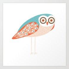 Long Legged Owl Art Print