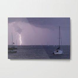 Lightening In Stonington Metal Print