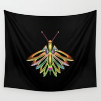 firefly Wall Tapestries featuring Firefly by Phil Perkins