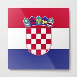 Croatia flag emblem Metal Print