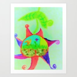 Upside Down Art Print