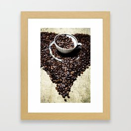 coffee art Framed Art Print