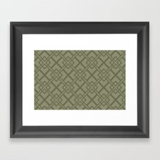 Simple Geometric Framed Art Print