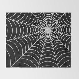 Spiderweb | Silver Glitter Throw Blanket