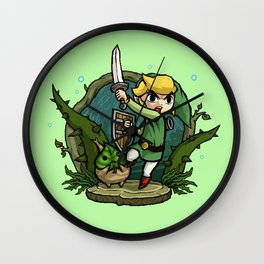 Legend of Zelda Wind Waker Forbidden Woods Temple T-Shirt Wall Clock