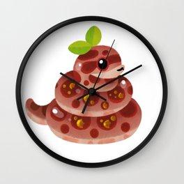 Chocolate Reptiles - dark Wall Clock