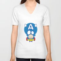 captain V-neck T-shirts featuring Captain by John O'Connor