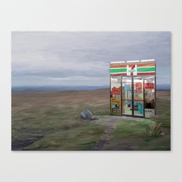 Convenience store Canvas Print