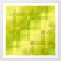 lime green Art Prints featuring Pattern lime green by Christine baessler