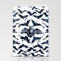 bats Stationery Cards featuring BATS by DIVIDUS