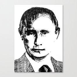 Vladimir Putin - SILENCE (rubber stamp portrait) Canvas Print