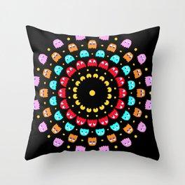 Video Game Spiral Throw Pillow