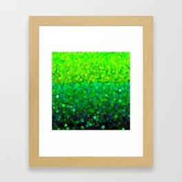Glitter Sparkles Green Framed Art Print
