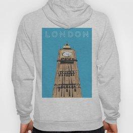 London Big Ben Travel Poster Hoody