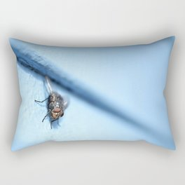 Bluebottle Blowfly Close Up (Macro) Rectangular Pillow