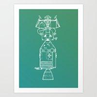 Real Spaceship Art Print