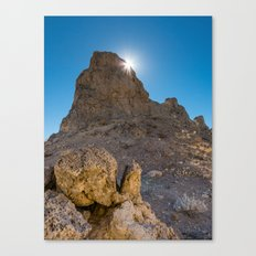 Sunburst Over Trona Pinnacles Canvas Print