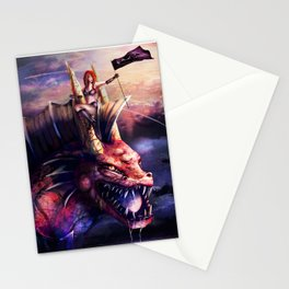 The Lady and the Water Dragon Stationery Cards