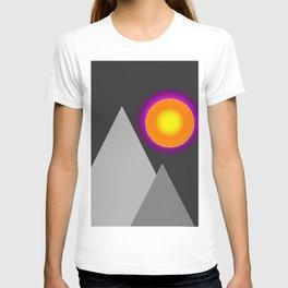 Gray mountains T-shirt