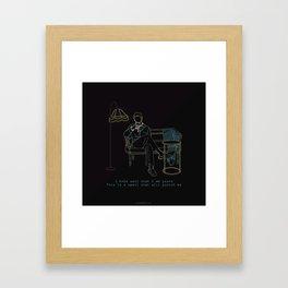 BTS RM BLOOD SWEAT AND TEARS LINE ART Framed Art Print