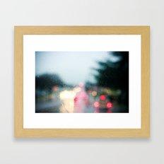 With Rainy Eyes Framed Art Print