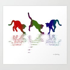 CATS RAINBOW II Art Print