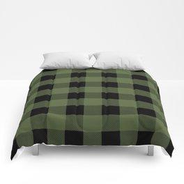 Green Buffalo Plaid Comforters