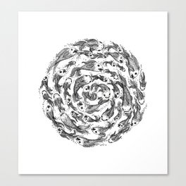 swimming in circles Canvas Print
