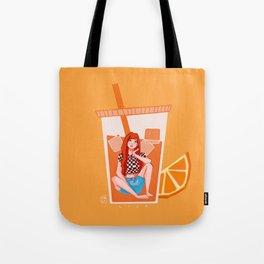 BLACKPINK Orange Lisa Tote Bag