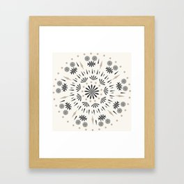 Snowflakes Scandic Nordic Framed Art Print