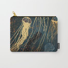 Metallic Jellyfish Carry-All Pouch