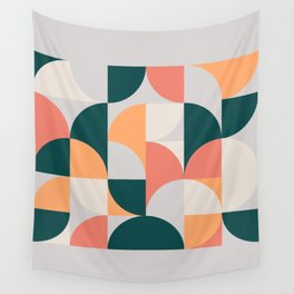 Mid Century Geometric 17 Wall Tapestry