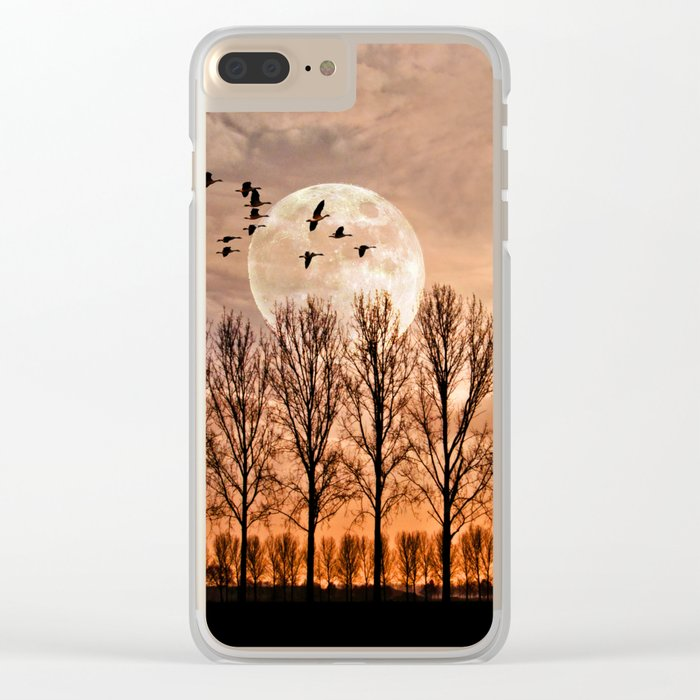 Night of the wild geese Clear iPhone Case