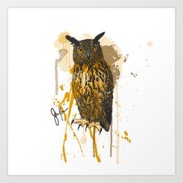 Brutus Eurasian Eagle Owl Art Print