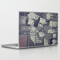 american psycho Laptop & iPad Skins featuring Psycho by Ale Giorgini