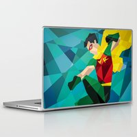 dc comics Laptop & iPad Skins featuring DC Comics Robin by Eric Dufresne