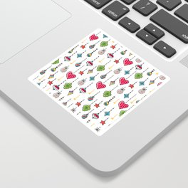 Christmas ornaments pattern hand doodling Sticker