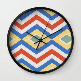 Abstract Stripes Pattern Geometric Decoration Wall Clock